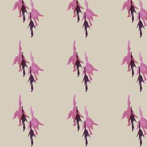 Fooschia- potato stamp fuschia flower striped print