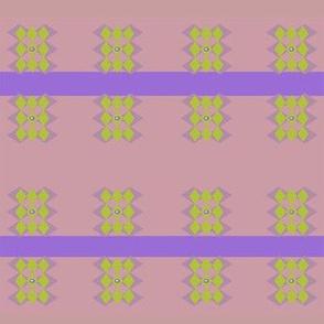 Celia- purple, green and pink geometric