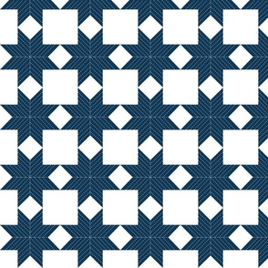 Quilted Star, Blue