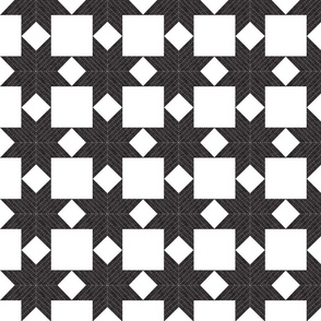 Quilted Star,  Black