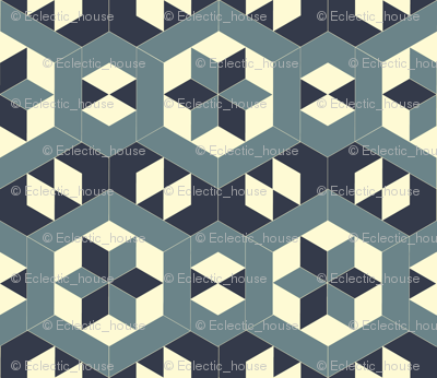 Bayeux Hexagon Stars and Diamonds 4