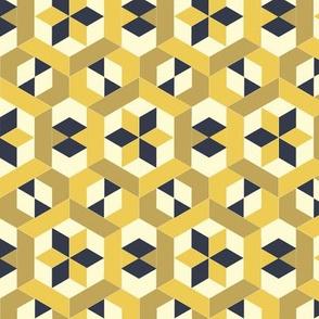 Bayeux Hexagon Stars and Diamonds 5