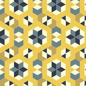 Bayeux Hexagon Stars and Diamonds 7