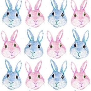 rabbit  pastel nursery cute, boho baby bunny