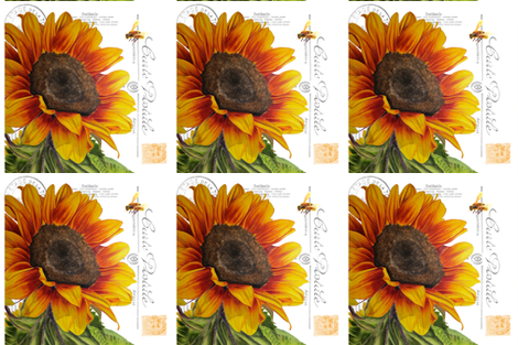 sunflower pillow fabric by redbriarstudio on Spoonflower - custom fabric