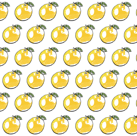 Oranges on white small scale fabric by tarareed on Spoonflower - custom fabric