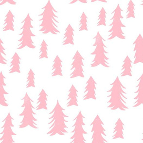 tree fabric // nursery baby woodland design nursery - pink