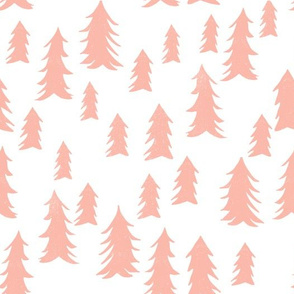 tree fabric // nursery baby woodland design nursery - peach