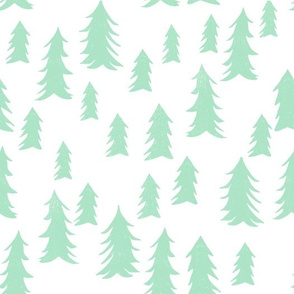 tree fabric // nursery baby woodland design nursery - mint