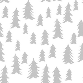tree fabric // nursery baby woodland design nursery - grey