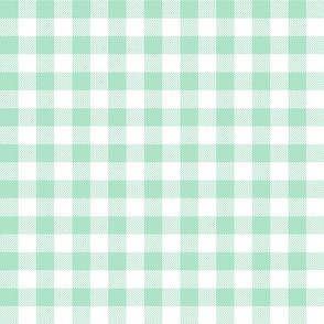 gingham fabric // buffalo plaid design nursery baby design - mint