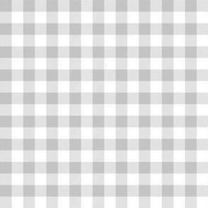 gingham fabric // buffalo plaid design nursery baby design - grey