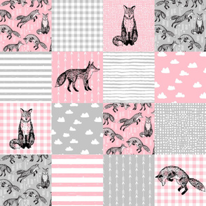 fox cheater quilt fabric // nursery baby