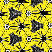 Abstract yellow and black