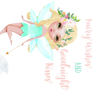 "42""x36"" Floral Fairy with Quote"