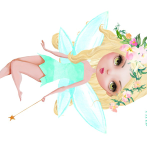 """56""""x36"""" Floral Fairy Quote"""