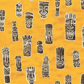 Tiki Heads - Gold