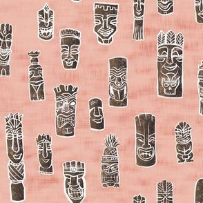 Tiki Heads - Pink