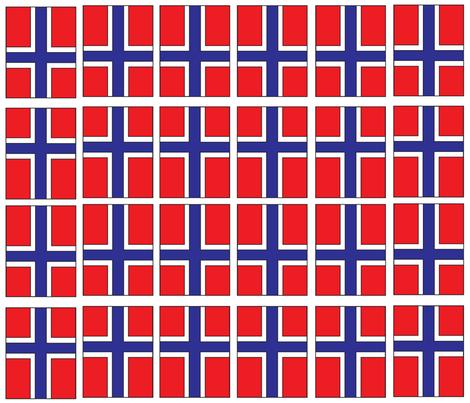 Norwegian Flag fabric by noelleodesigns on Spoonflower - custom fabric