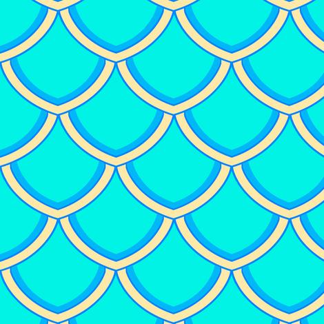 SAGE World Ocean Day Mermaid Scales fabric by linda_baysinger_peck on Spoonflower - custom fabric