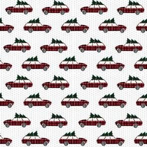 christmas wagon // christmas plaid buffalo check car kids cute christmas fabric