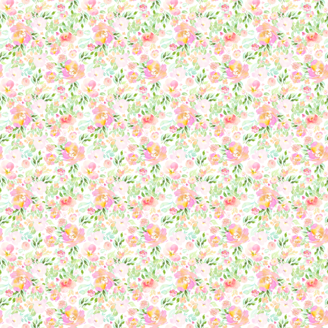 "2"" Blooming Fairy Florals  / Floral Fairy Mix & Match fabric by shopcabin on Spoonflower - custom fabric"