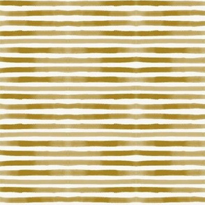 Watercolor stripes - golden stripes, pin stripes, mustard yellow stripes