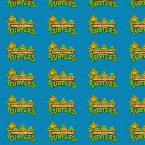 TMNT Teenage Mutant Ninja Turtles blue background