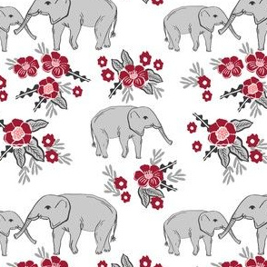 elephant fabric painted nursery watercolor fabric alabama