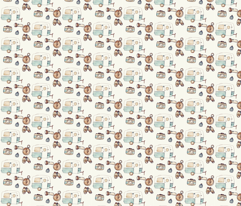 Happier Camper fabric by littlebittyprints on Spoonflower - custom fabric
