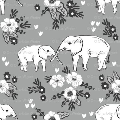 elephant floral fabric nursery baby girls alabama bama fabric