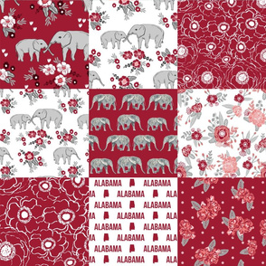 alabama elephant cheater quilt nursery baby girl girls fabric