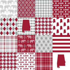alabama cheater quilt  bama quilt patchwork