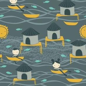 A Little Village {Sea Grey}