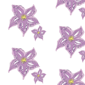 Dual Purple Flowers