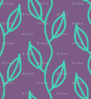 small vines (teal on purple)