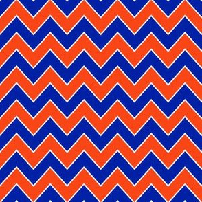 chevron orange and blue florida minimal college sports fabric pattern