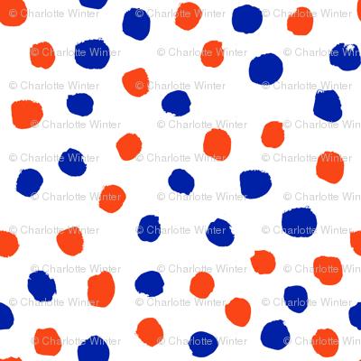 dots florida orange and blue college university football gators fabric