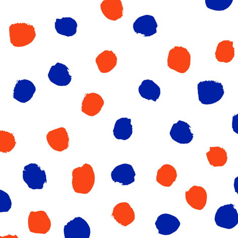 dots florida orange and blue college university football gators fabric  fabric by charlottewinter on Spoonflower - custom fabric