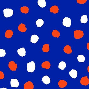 dots florida orange and blue college university football gators fabric