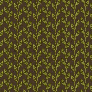small vines (green on brown)