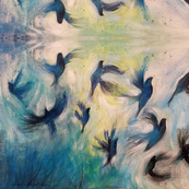 Abstract Birds in Flight