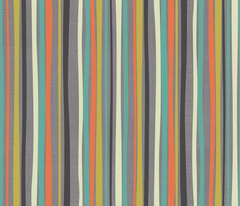 Ukulele Aloha: Stripe fabric by bzbdesigner on Spoonflower - custom fabric