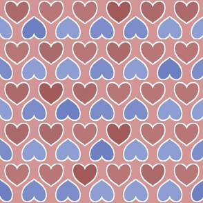 Pink and Blue Pastel Hearts