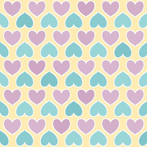Primary Colors Pastel Hearts
