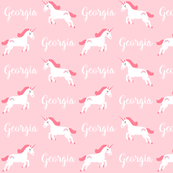 personalized girls unicorn fabric