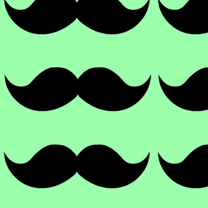 Savvy's Simple Mustache Green
