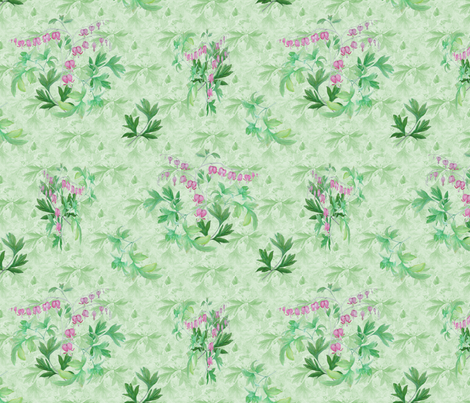 bleedingheart_four_patch_A_very_light_double_leaves fabric by khowardquilts on Spoonflower - custom fabric