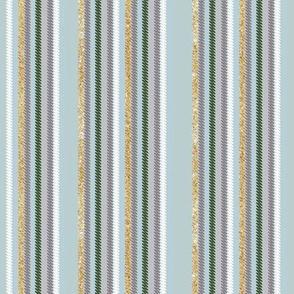Chalk Stripe Dew Green