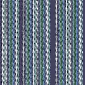 Chalk Stripe Dark Heather